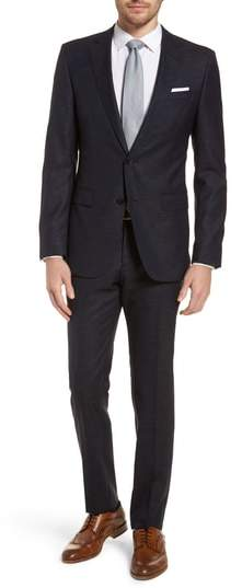 BOSS Novan/Ben Trim Fit Solid Wool Blend Suit