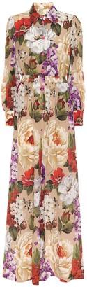 Dolce & Gabbana Floral silk jumpsuit