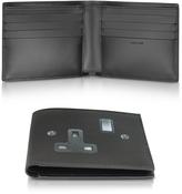 Paul Smith Men's Black Leather Plug Socket Print Billfold Wallet
