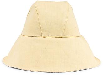 Jil Sander Canvas Hat in Light Pastel Yellow | FWRD