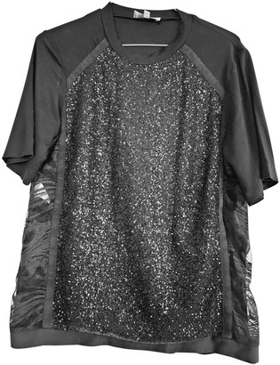 Elie Saab Black Cotton Top for Women