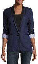 Joie Amit One-Button Jacket, Blue