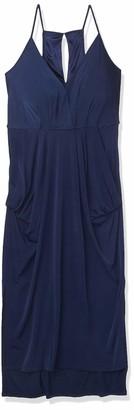 BCBGeneration Women's Sleeveless V-Neck Faux Wrap Midi Dress