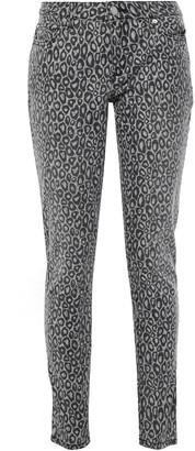 MICHAEL Michael Kors Izzy Leopard-print Mid-rise Slim-leg Jeans