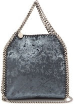 Stella McCartney Falabella crushed-velvet mini cross-body bag