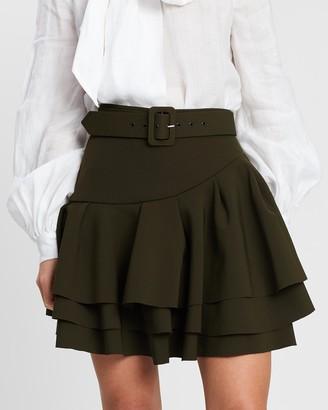 Asilio Ruffle Belted Skirt