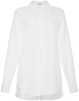 Tome White Cotton Poplin Pleat Back Shirt