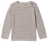 FUB Grey Striped Sweater with Buttons