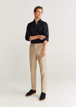MANGO Slim fit stretch cotton shirt