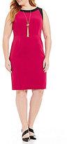 Kasper Plus Stretch Crepe Dress