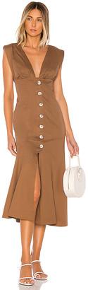 L'Academie The Gabrielle Midi Dress
