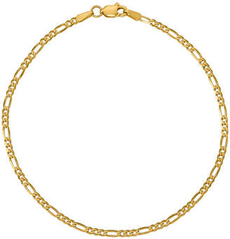 FINE JEWELRY 14K Gold 7 Inch Solid Figaro Chain Bracelet