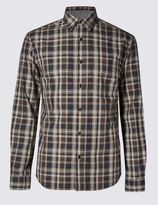 Marks and Spencer Pure Cotton Tailored Fit Casual Shirt