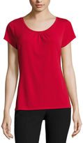 JCPenney Worthington Short-Sleeve Scoopneck Top