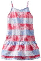Osh Kosh Toddler Girl Poplin Stripe Floral Dress