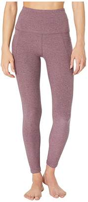 Beyond Yoga Spacedye High Waisted Pocket Midi Legging (Deep Blush/Wild Orchid) Women's Casual Pants