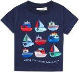 Jo-Jo JoJo Maman Bebe Boat T-Shirt (Baby) - Navy-6-12 Months
