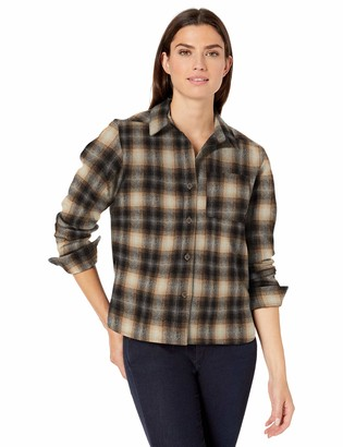 Pendleton Women's Cropped Lodge Shirt Button