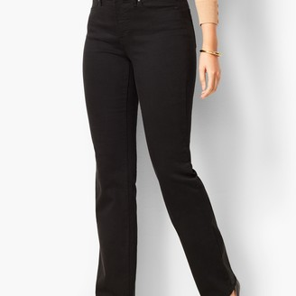 Talbots High-Waist Barely Boot Jeans - Curvy Fit - Black Wash