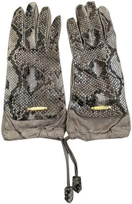 Burberry Beige Python Gloves