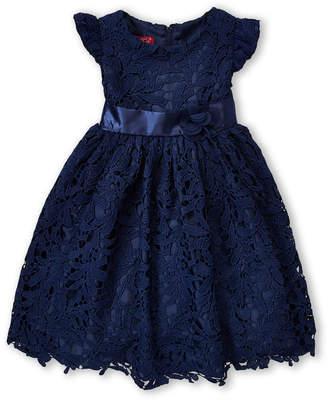 Princess Faith (Girls 4-6x) Navy Floral Lace Dress