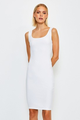 Karen Millen Smooth Essential Scoop Neck Slip Midi Dress