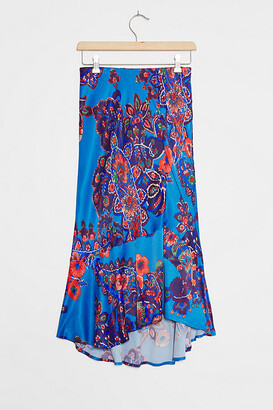 Maeve Janelle Bias Midi Skirt By in Blue Size XS
