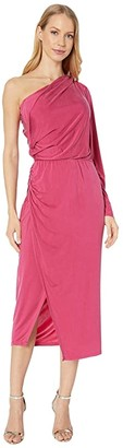 Young Fabulous & Broke Penelope Dress (Cranberry Solid) Women's Dress