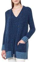 Akris Punto Button-Front Mélange Cashmere Cardigan Sweater