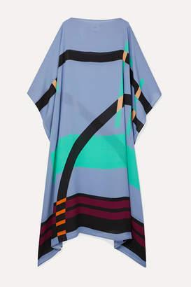 Louisa Parris - Pompe Printed Silk-georgette Dress - Lavender