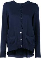 Sacai cupro insert cardigan - women - Cotton/Polyester/Cupro - 3