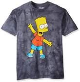 Liquid Blue Men's Simpsons Bart Character Tie Dye Short Sleeve T-Shirt
