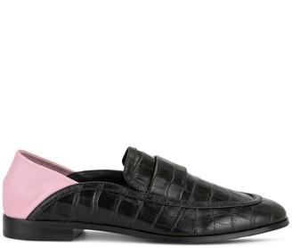 Senso Sabrina croc-effect loafers