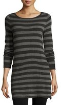 Eileen Fisher Long-Sleeve Striped Tunic W/ Pockets, Petite