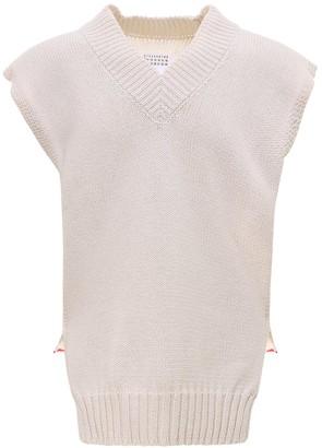 Maison Margiela Asymmetric-Hem Knitted Vest