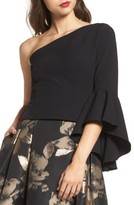 Eliza J Women's One-Shoulder Bell Sleeve Top