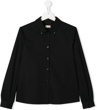 Elisabetta Franchi La Mia Bambina Star button-down shirt