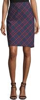 Trina Turk Crissy 2 Plaid-Print Pencil Skirt