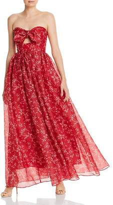 Keepsake Midnight Floral Cut-Out Gown