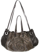 Valentino Spiral Sequined Leather Satchel