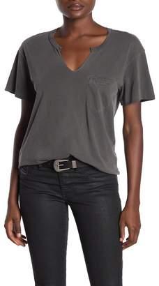 PST by Project Social T Split Neck Pocket T-Shirt