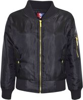 a2z4kids Kids Jacket Girls Boys Bomber Padded Zip Up Biker Jacktes MA 1 Coat 2-13 Years