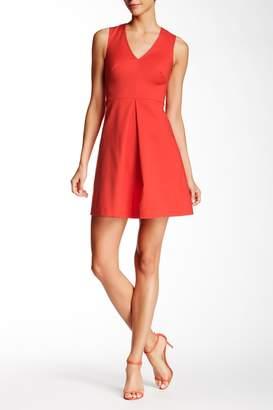 1 STATE V-Neck Cutout A-Line Dress