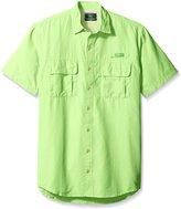 G.H. Bass Men's Big-Tall Short Sleeve Explorer Solid Fishing Shirt