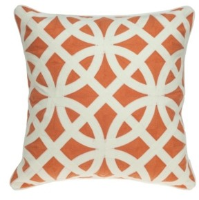Parkland Collection Chano Transitional Multicolored Pillow Cover With Down Insert