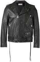 Saint Laurent biker jacket - men - Cotton/Leather/Polyester/Cupro - 50