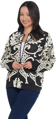 Women With Control Attitudes by Renee Jacquard Bomber Jacket