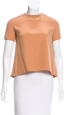 Celine Silk Short Sleeve Top