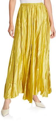 Forte Forte Crinkle Silk Satin Maxi Skirt