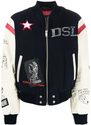 Diesel Graphic-Print Varsity Jacket